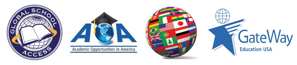 Our Partners: Global School Access, A+ Global Education, Academic Opportunities in America, and Gateway Education USA