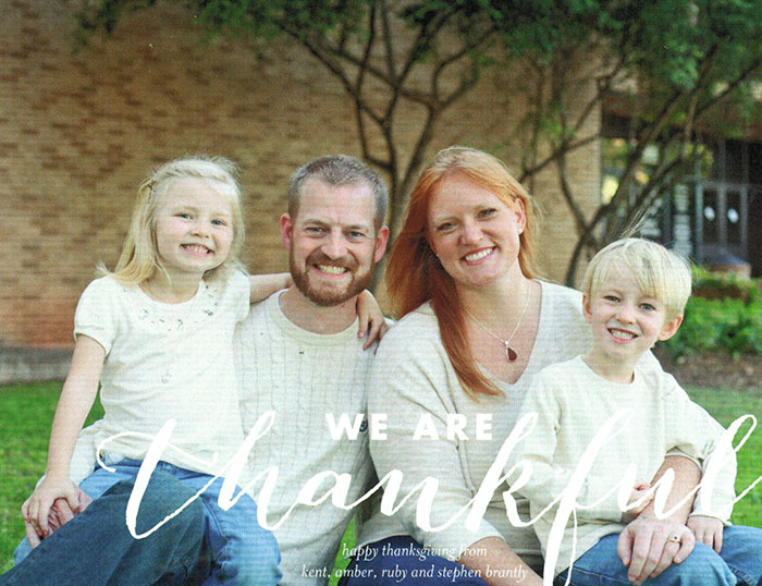 Alumnus, Dr. Kent Brantly and Family