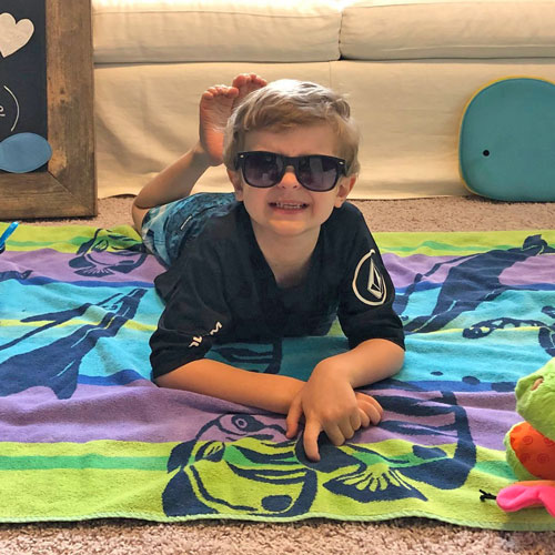 Kindergarteners Celebrate End of School with Beach Day