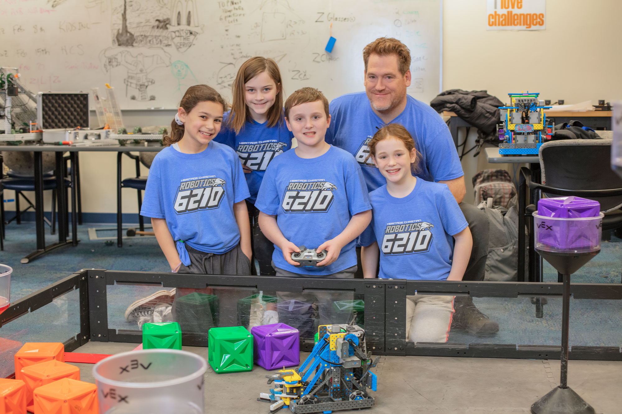 Elementary Robotics Students