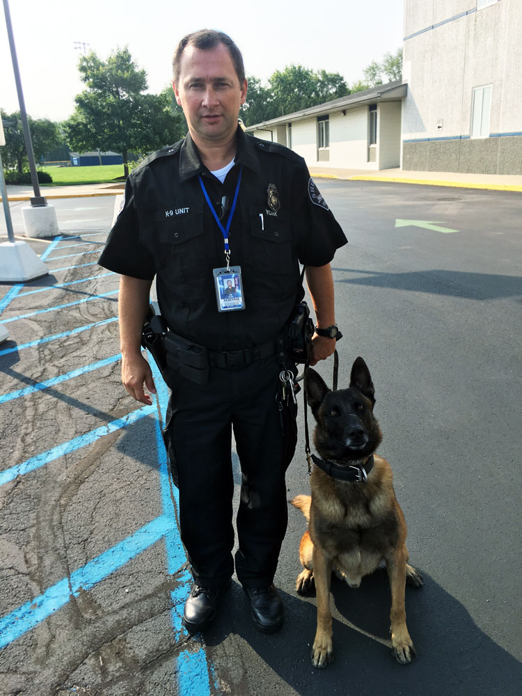 Officer York and K9 Officer Max